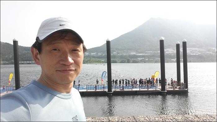 양산 트라이애슬론 수영 경기장 모습