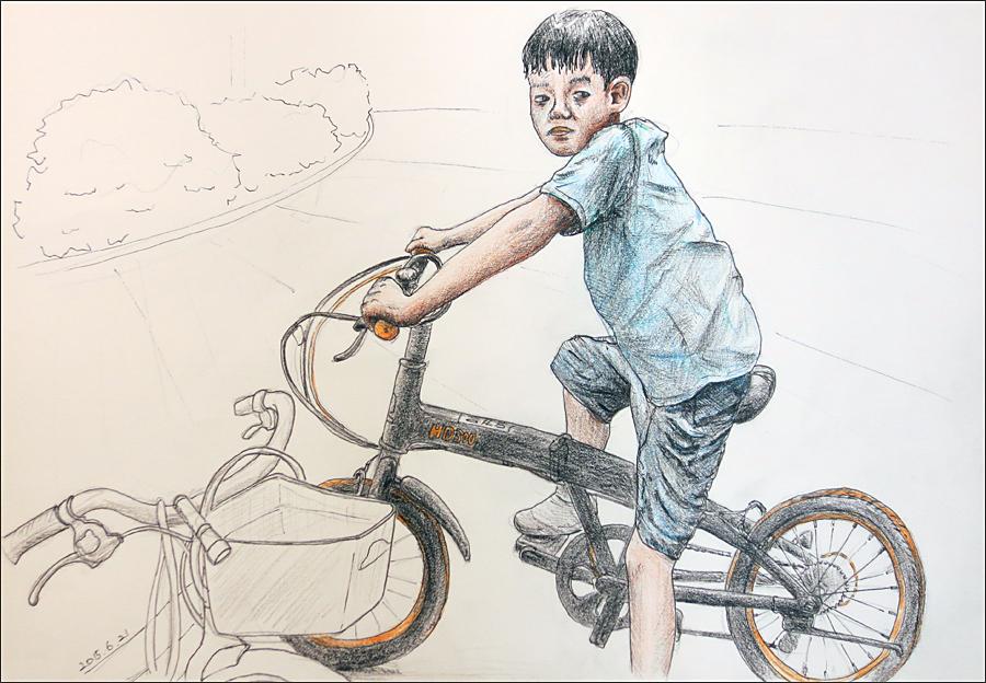 자전거 탄 아들