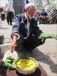 무화과를 파는 할아버지