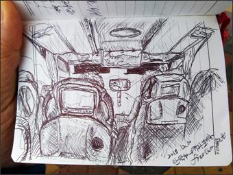 카파토키아로 향하는 버스(그림)