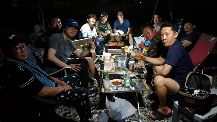 낭만카약커 7월 정기모임 전야제(2020.8.1., 여차몽돌해수욕장)