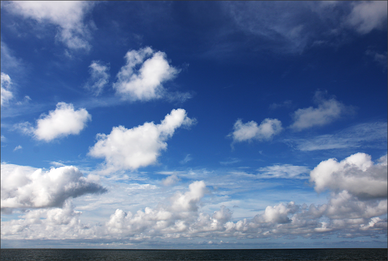 오후들어 화창해진 하늘