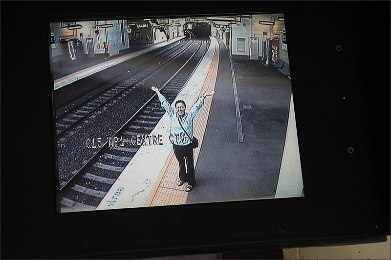 호주 지하철에서...