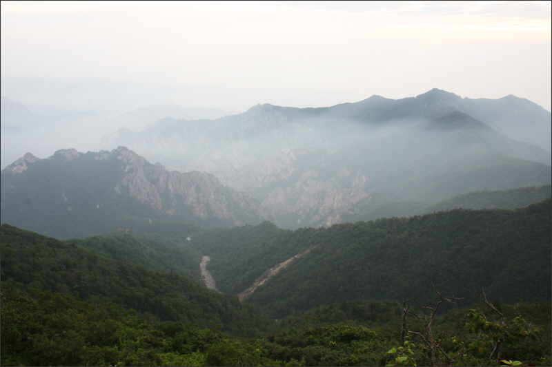 대청봉에서 본 '죽음의 계곡'