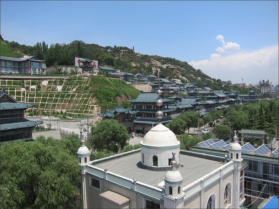 케이블카에서 본 백탑산공원