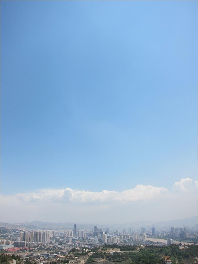 란저우의 하늘