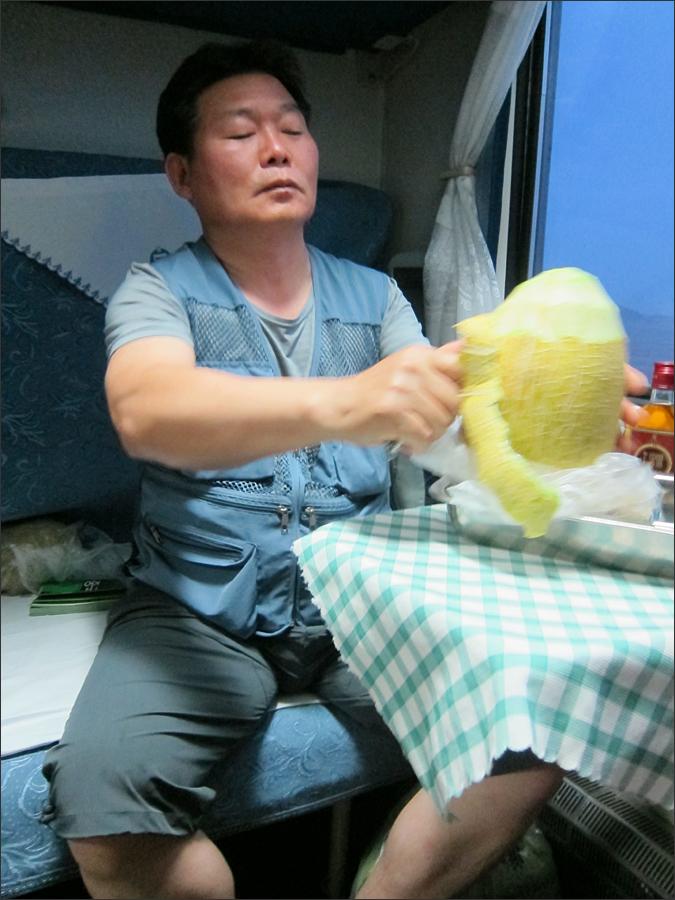 기차에서 먹는 야식 (하미과)
