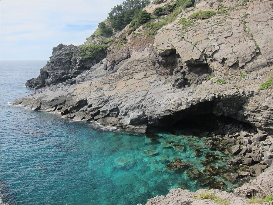 태하등대 아래의 해안