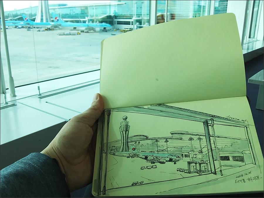 이스탄불행 비행기를 기다리며(인천국제공항)